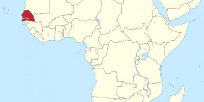 afrika karta senegal Senegal kartica   kartica Senegala (Zapadna Afrika   Afrika) afrika karta senegal